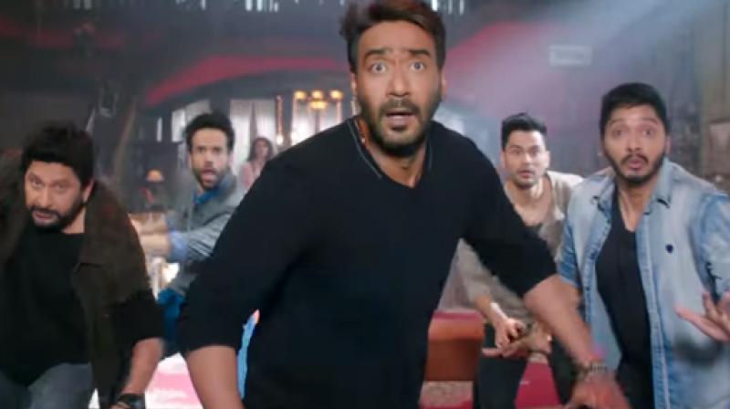 Arshad Warsi, Tusshar Kapoor, Ajay Devgn, Kunal Kemmu and Shreyas Talpade in 'Golmaal Again.'