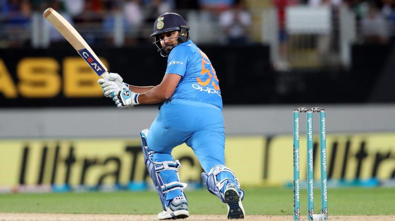 Captain Rohit Sharma dashed a half-century from 28 balls and Rishabh Pant made an unbeaten 40 as India beat New Zealand by seven wickets in the second Twenty20 to level the three-match series at 1-1 on Friday. (Photo: AFP)
