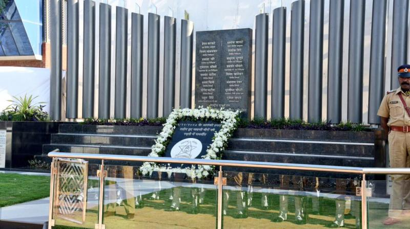 The 26/11 police memorial site at the Mumbai Police Gymkhana in south Mumbai. (Photo: Twitter)
