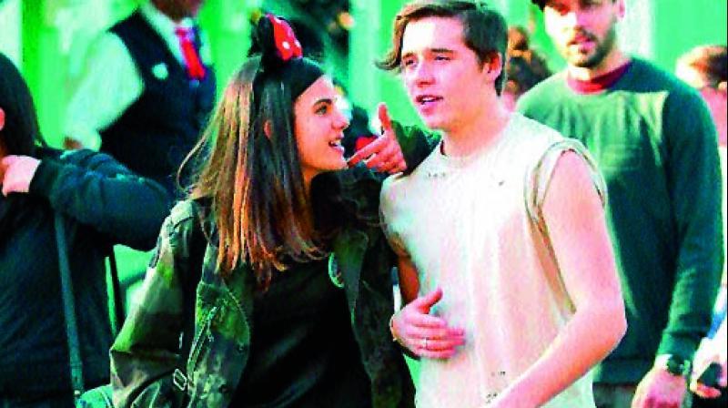 Brooklyn Beckham and Sonia Ben Ammar
