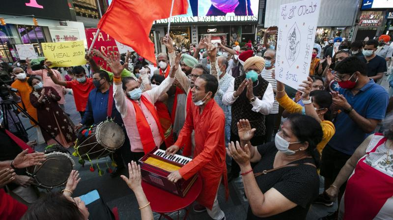 """By performing bhoomipujan for Ram Mandir, PM Modi junked his constitutional oath of office that makes it mandatory for him to """"discharge all duties faithfully and conscientiously"""". AP Photo"""