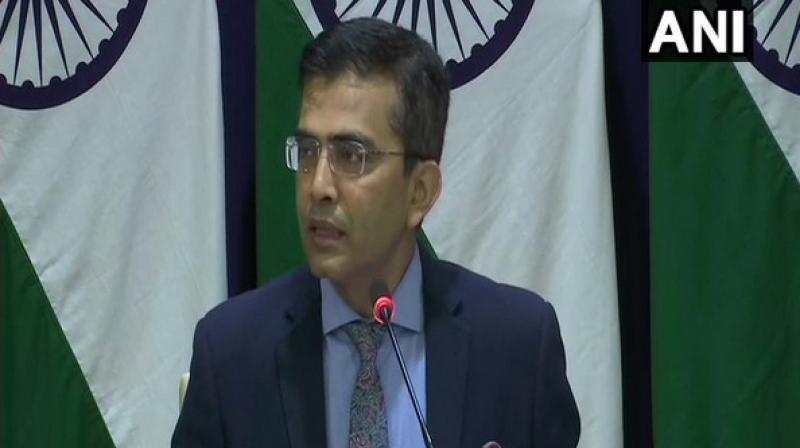 Foreign ministry spokesperson Raveesh Kumar. (Photo: File)