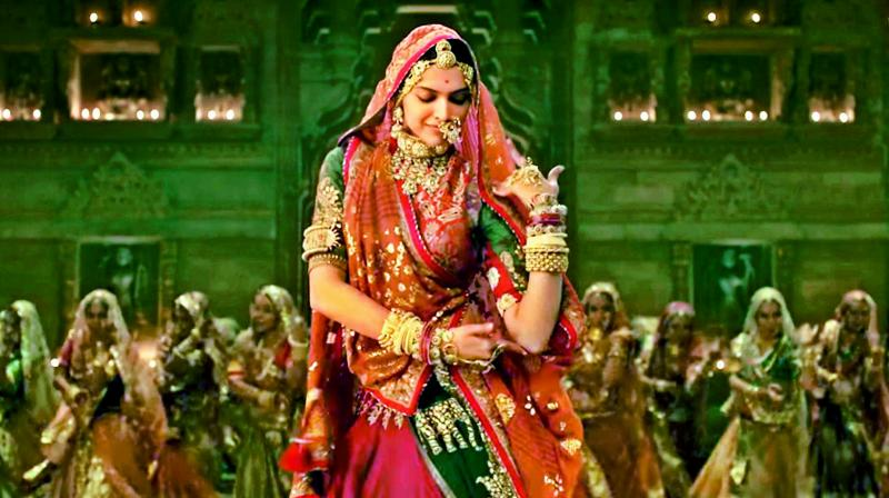 A still from the song Ghoomar in the film Padmavati that has sparked a controversy.
