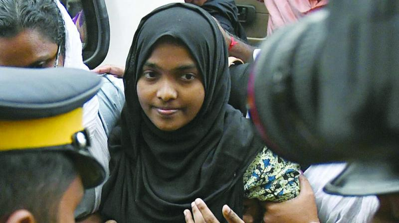 A day after Hadiya arrived at Salem in Tamil Nadu to continue studies at Sivaraj Homeopathy medical college as directed by the Supreme Court, she spoke to her husband using the phone of the College Dean. (Photo: File)