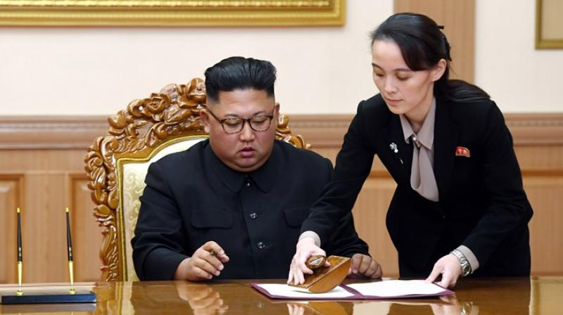Kim Yo Jong, right, sister of North Korean leader Kim Jong Un (AP file photo)