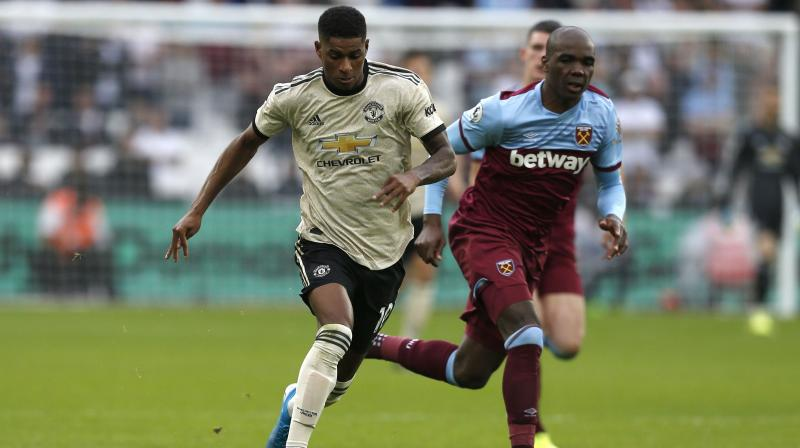 West Ham United beat a toothless Manchester United to move into fourth place in the Premier League as Ole Gunnar Solskjaer's side ended the game without an established striker after Marcus Rashford came off injured. (Photo:AFP)