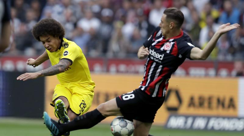 Dortmund, fresh from their midweek 0-0 draw at home to Barcelona in the Champions League group stage, had twice taken the lead — through Axel Witsel in the 11th minute and Jadon Sancho in the 66th. (Photo:AP)