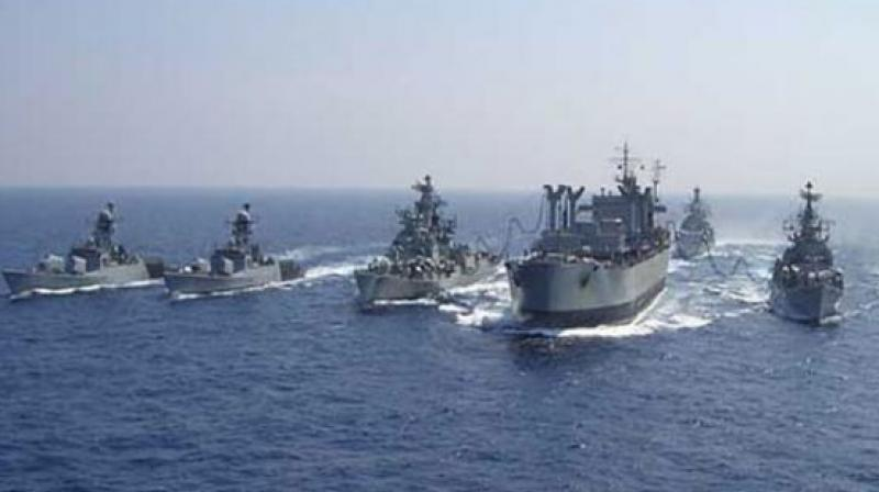 Malabar exercise, seen as an effort by India, USA, and Japan navies to counter the growing challenge of China in the sea will be held from 25 September in Sasebo. (Representational image)