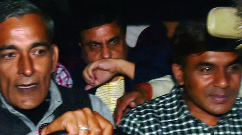 IAS officer B.L. Agrawal, who was arrested by the CBI in an alleged bribery case, is produced in Patiala House Courts in New Delhi on Tuesday. (Photo: PTI)