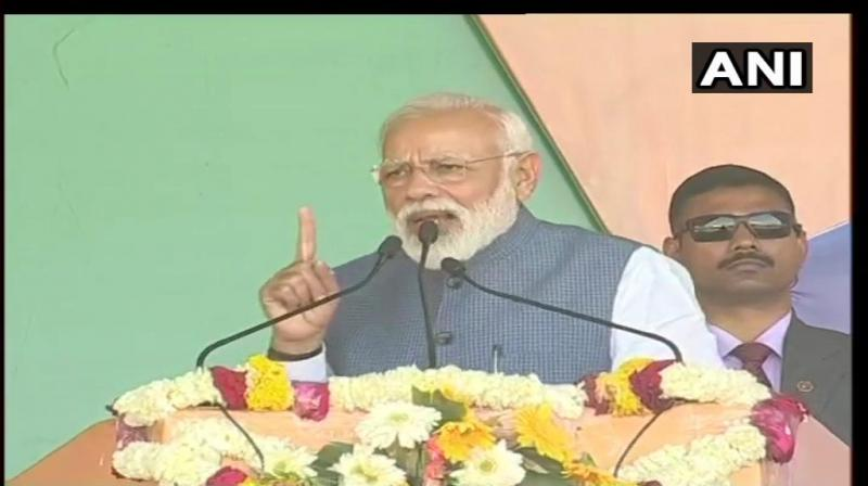 Prime Minister Narendra Modi after concluding his two-day visit to Gujarat, marked his presence at Dhar in Madhya Pradesh on Tuesday. (Photo: File)