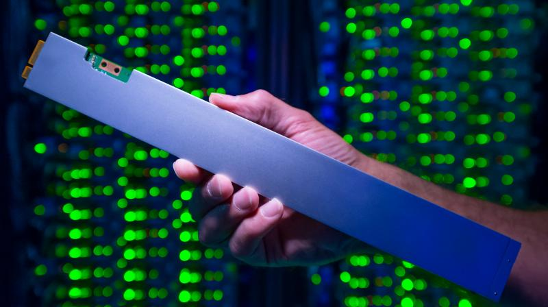 The Intel SSD DC P4500, is about the size of an old-fashioned 12-inch ruler and can store 32 terabytes.