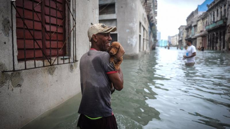 In some places, the sea water reached more than 500 meters (1,650 feet) into the city. (Photo: AFP)