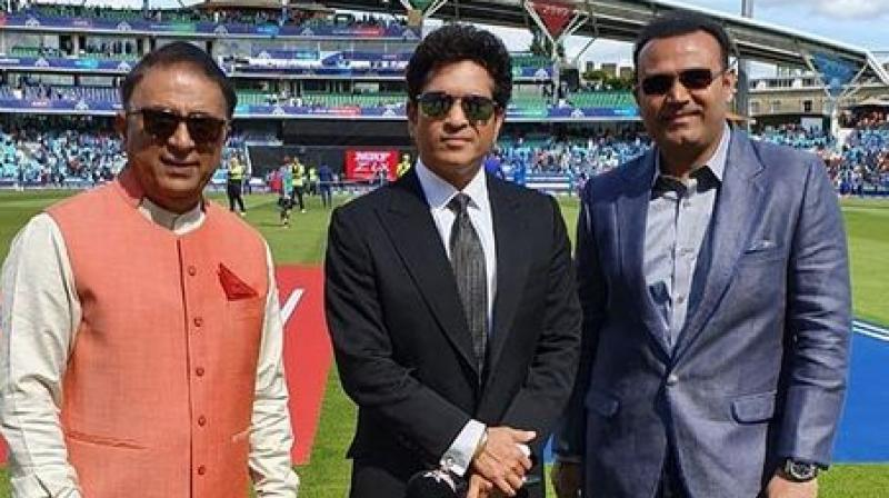 Earlier Sehwag clicked a selfie with Tendulkar and the West Indies great Brian Lara during the India-Pakistan clash, which India won by 89 runs. (Photo: Virender Sehwag/Twitter)