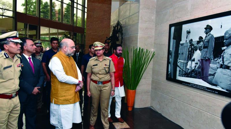 New police headquarters which was inaugurated by Union home minister Amit Shah in New Delhi on Thursday. (Photo: ASIAN AGE)