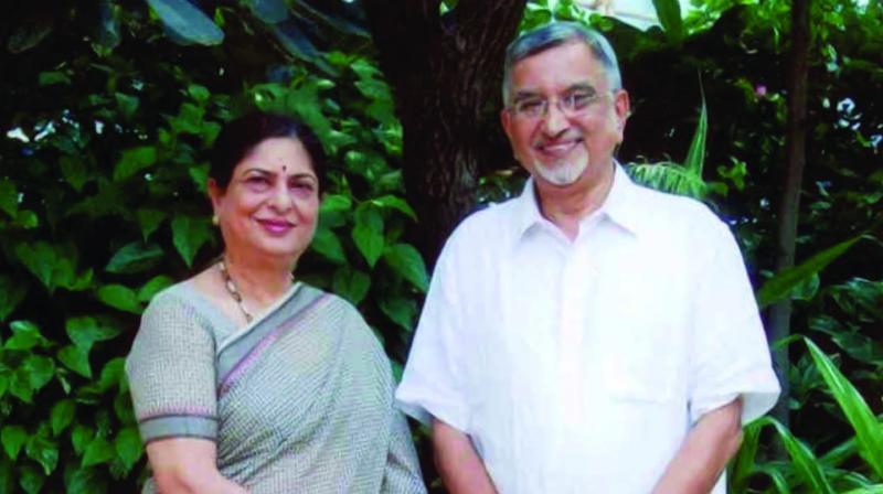 Kishor Kher and his wife Mrinalini, founders of Yuva Parivartan