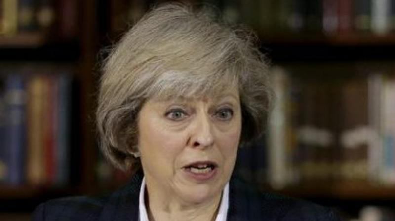 May said before leaving Britain that it was 'clearly in the UK's security and prosperity interests to support Jordan and Saudi Arabia'. (Photo: AP)