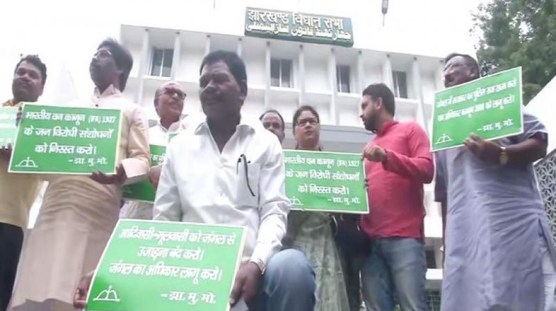 Several BJP MLAs raised the 'Jai Shri Ram' slogan in the Jharkhand Assembly. (Photo: ANI)