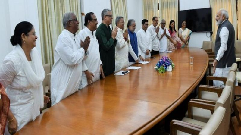 They informed the Prime Minister that the West Bengal Assembly has passed the bill for the name change of the state. (Photo: ANI)