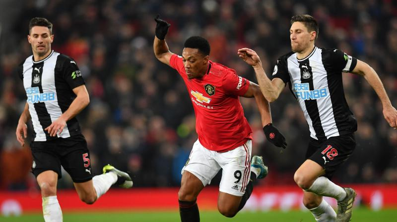 Anthony Martial scored twice as Manchester United hit back in emphatic fashion from a rocky start against a benevolent Newcastle United to open their Christmas programme with a 4-1 victory at Old Trafford on Thursday. (Photo:AFP)