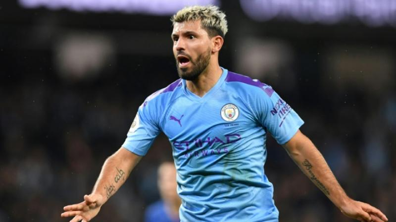 Pep Guardiola believes Sergio Aguero is 'irreplaceable' as the Manchester City forward enters the final 18 months of his glorious career in English football. (Photo:AFP)