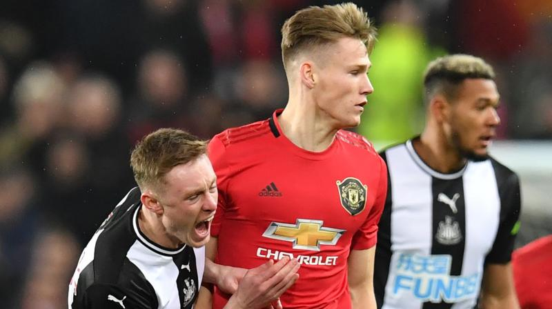 The gloss was taken off Manchester United's 4-1 thumping of Newcastle United as midfielder Scott McTominay left Old Trafford on crutches and looking unlikely to be fit for the rest of the Christmas programme.