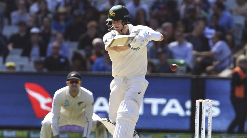 New Zealand paceman Neil Wagner denied Steve Smith his first century of the home summer but Australia's batsmen dug in to push to 336 for five at lunch on day two of the Boxing Day test on Friday. (Photo:AFP)