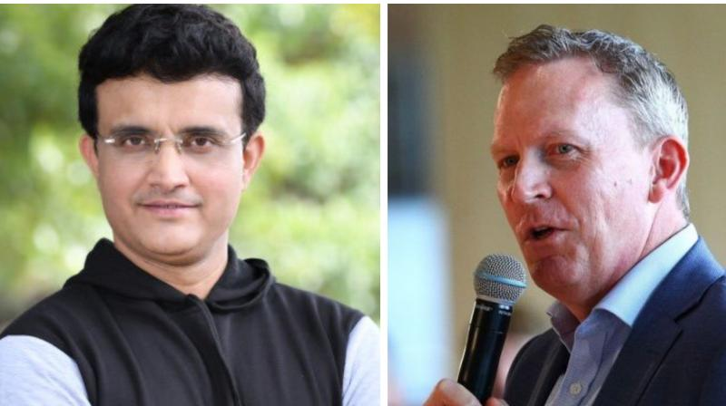 Cricket Australia chief executive Kevin Roberts has termed BCCI President Sourav Ganguly's idea for a four-nation 'ODI Super Series' as 'innovative' but stopped short of giving any commitment. (Photo:Twitter)