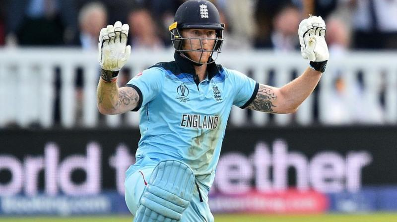 Chasing New Zealand's 241 for 8, England needed nine runs from the final three balls when a throw by Martin Guptill deflected off diving Stokes' bat for a boundary. (Photo: AFP)