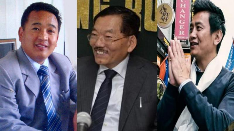 (L-R) PS Golay of opposition SKM, Pawan Chamling of ruling SDF, Bhaichung Bhutia of HSP stand as the prominent contenders in the state elections. (Photo: File)