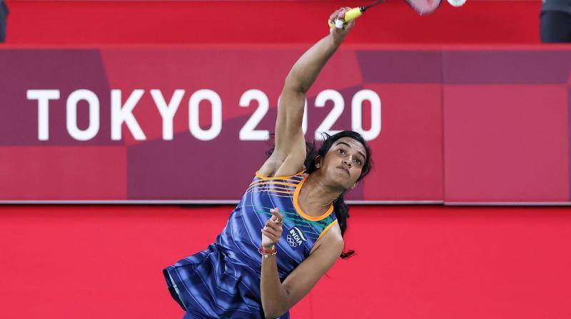 PV Sindhu in action. (Photo: Olympics.com)
