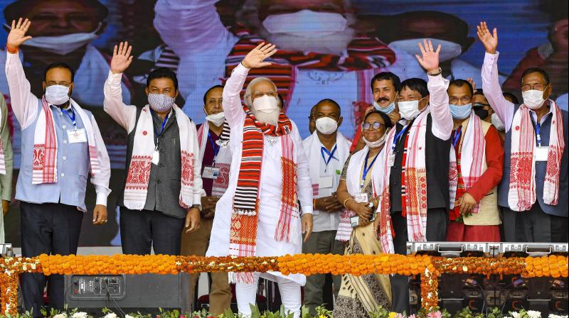 Why is the Narendra Modi government sending letters to the states that they should have strict enforcement of crowd control when Mr Modi is himself holding giant rallies. (PTI)