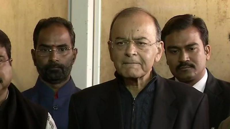 'The action was taken perfectly bonafide as there were cross-allegations made by both the officers and in accordance with recommendations of CVC, the government felt that in the larger interest of fair and impartial investigation and credibility of CBI, the 2 officers must recuse themselves,' Jaitley said. (Photo: ANI | Twitter)
