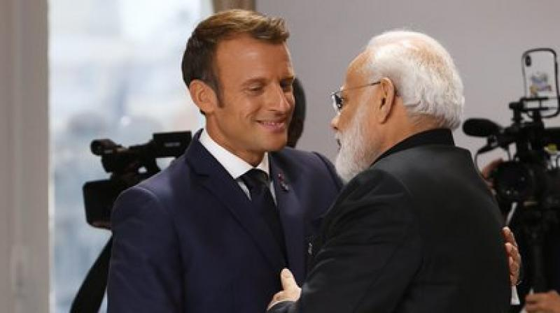 Modi is attending the G7 Summit in this French town of Biarritz on special invitation of French President Emmanuel Macron. (Photo: ANI)