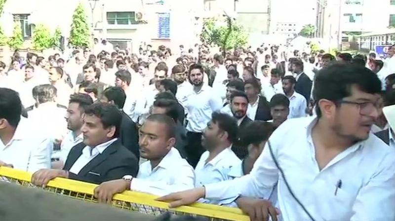Lawyers across the national capital have been skipping work since the violent clash with Delhi policemen outside Tis Hazari court on Wednesday. (Photo: ANI)