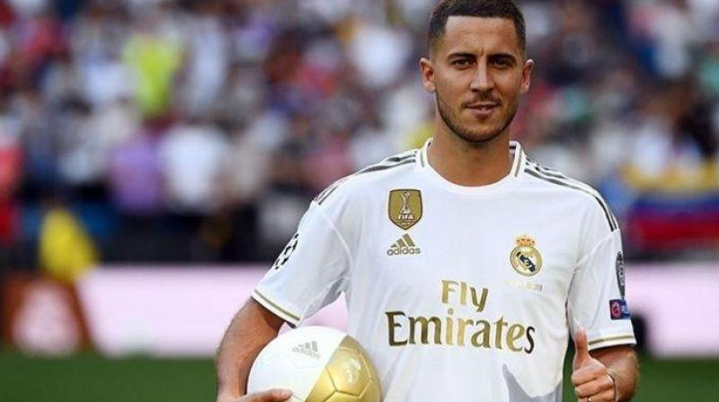 Eden Hazard said on Monday he is 'one goal' away from launching his Real Madrid career having failed to score since joining the Spanish club this summer. (Photo:AFP)