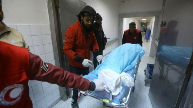 The GNA health ministry called for blood donors to go to hospitals and blood banks to help those injured. (Photo: AFP)