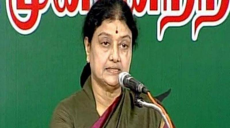 Sasikala is currently lodged in Bengaluru's Parappana Agrahara jail. (Photo: ANI)