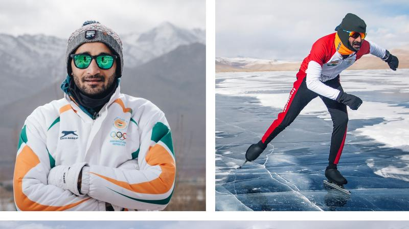 Today, he has put India on the world map by becoming India's fastest distance ice skater in long-track speed skating. (Photo: Vishwaraj R Jadeja/ Ayesha Parikh)
