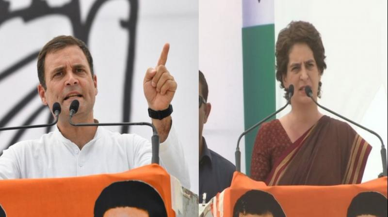 Later addressing the same rally, Congress president Rahul Gandhi also raised questions over publicity campaigns being carried by the government and asked about the source of money for the campaigns. (Photo: ANI | Twitter)