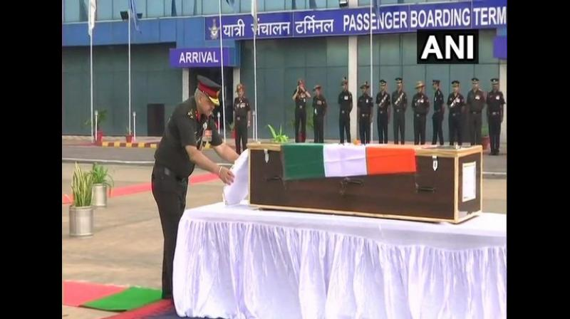 The Indian Army soldier lost his life in the unprovoked ceasefire violation along the LoC. (Photo: ANI)