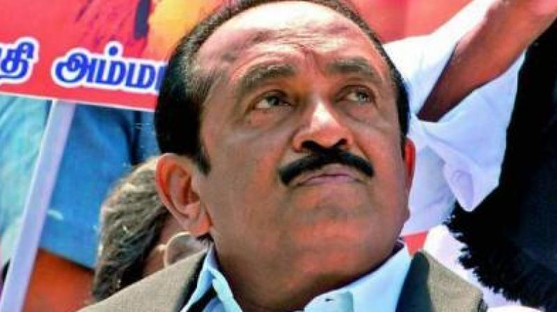 As a result of the MDMK leader's hospitalisation, the plan to hold a campaign against neutrino project in Theni district on August 20, 21 and 22 has been postponed. (Photo: File)
