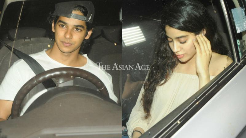 Snapped: Shahid's brother Ishaan takes rumoured love Jhanvi