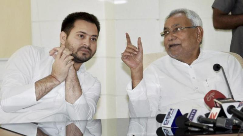 Tejaswi arrived for a cabinet meeting on Tuesday along with state health minister and his brother Tej Pratap Yadav. (Photo: File)