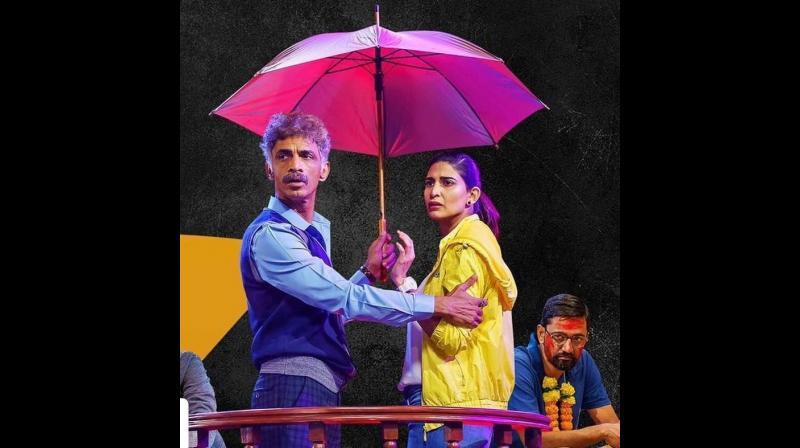 Makrand Deshpande and Aahana Kumra in the play Sir Sir Sarla