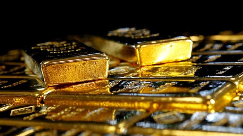Globally, gold traded 1.09 per cent lower at USD 1,859.20 an ounce in New York. (Representative Image: Reuters)