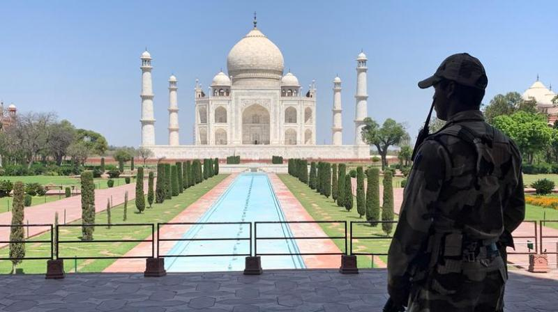 The monument of love built by Mughal emperor Shah Jahan as a tomb for his beloved wife Mumtaz Mahal reopened in September with restrictions on the number of visitors before shutting again in mid-April. (Photo: Reuters)