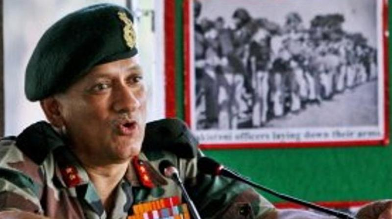 The NDA government on Saturday appointed Lieutenant General Bipin Rawat as the next chief of the Indian Army. (Photo: PTI)