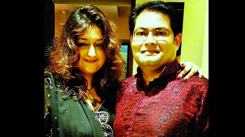 File picture of Payal with husband Dicky Sinha