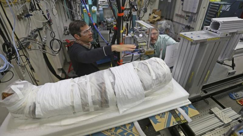 Researchers say the technology allows them to study what's inside the mummy while leaving the 5-year-old girl's remains and wrappings intact. (AP Photo)
