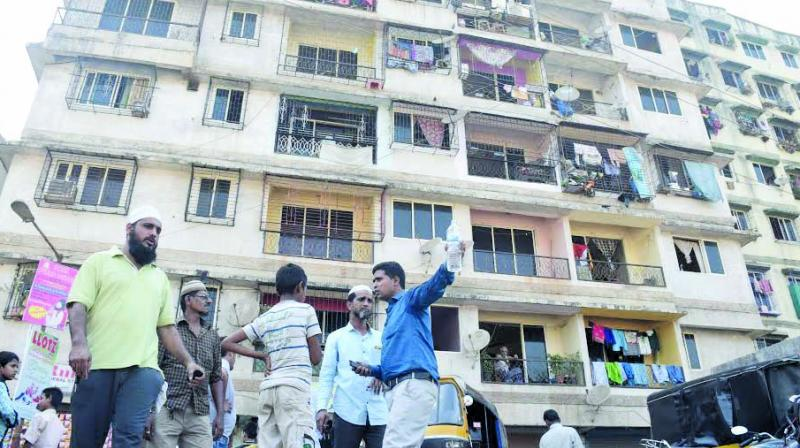 Samadhan society, the site where the joint ATS operation took place in Mumbra. (Photo:  Deepak Kurkunde)